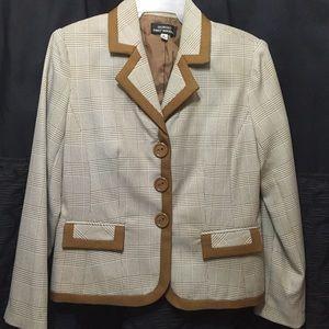 Vintage new fitted plaid blazer jacket 8